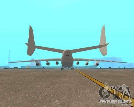 El an-225 Mriya para GTA San Andreas vista posterior izquierda