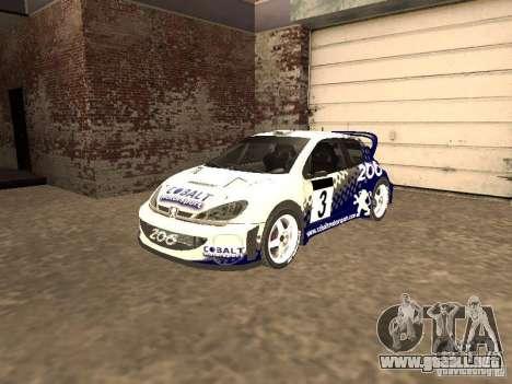Peugeot 206 WRC de Richard Burns Rally para GTA San Andreas