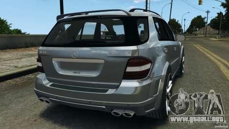 Mercedes-Benz ML63 AMG Brabus para GTA 4 Vista posterior izquierda