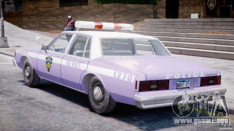 Chevrolet Impala Police 1983 v2.0 para GTA 4 visión correcta