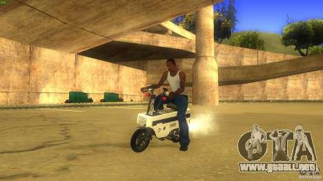 Honda Motocompo para GTA San Andreas vista posterior izquierda