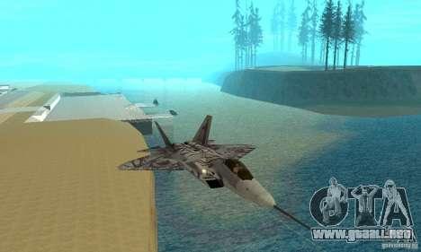 YF-22 Starscream para visión interna GTA San Andreas