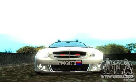 Mercedes-Benz S500 W221 Brabus para la visión correcta GTA San Andreas