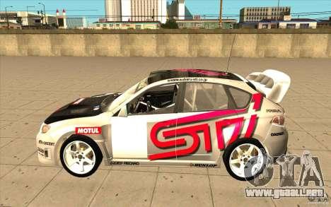 Subaru Impreza WRX STi con el único nuevo vinilo para GTA San Andreas left