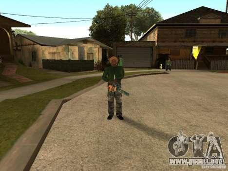Lanzar cuchillas para GTA San Andreas segunda pantalla