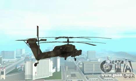 Mi-28 para GTA San Andreas vista hacia atrás