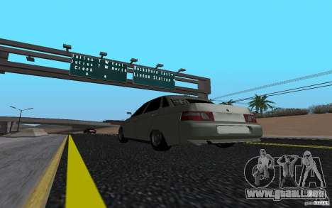 VAZ 2110 luz Tuning para GTA San Andreas left