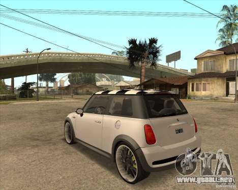 Mini Cooper para GTA San Andreas left