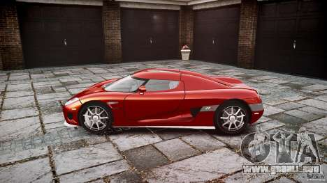 Koenigsegg CCX v1.1 para GTA 4 vista hacia atrás