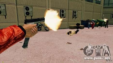 Glock 18 Akimbo (negro/gris) para GTA 4 adelante de pantalla