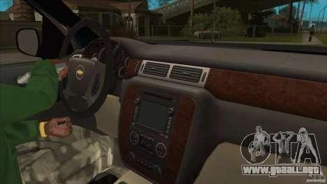 Chevrolet Cheyenne 2011 para visión interna GTA San Andreas