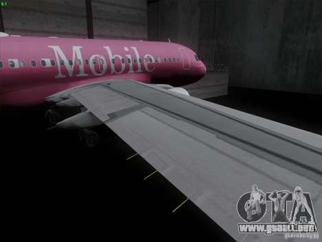 Airbus A319 Spirit of T-Mobile para visión interna GTA San Andreas
