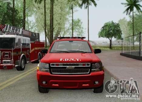 Chevrolet Suburban EMS Supervisor 862 para el motor de GTA San Andreas