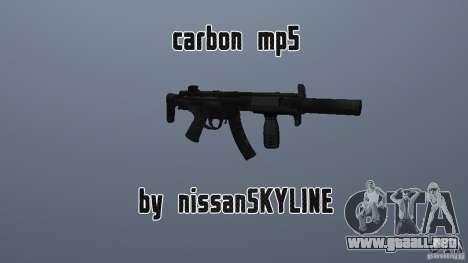 Carbono MP5 con silenciador para GTA San Andreas
