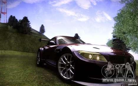 BMW Z4 E89 GT3 2010 para la visión correcta GTA San Andreas