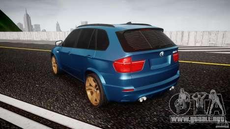 BMW X5 M-Power wheels V-spoke para GTA 4 Vista posterior izquierda