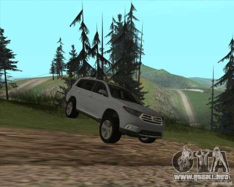 Toyota Highlander para visión interna GTA San Andreas
