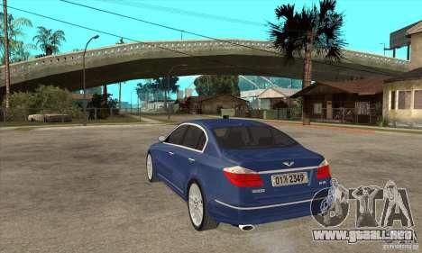 Hyundai Genesis para GTA San Andreas left