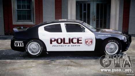 Dodge Charger SRT8 Police Cruiser para GTA 4 vista desde abajo