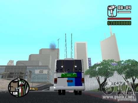 Cobrasma Monobloco Patrol II Trolerbus para GTA San Andreas vista posterior izquierda