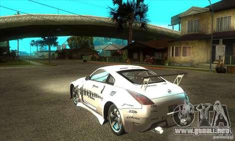 Nissan 350Z para la visión correcta GTA San Andreas
