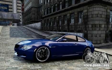 BMW M6 Coupe E63 2010 para GTA 4 left
