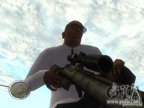 Sniper - Forest Camouflage para GTA San Andreas tercera pantalla