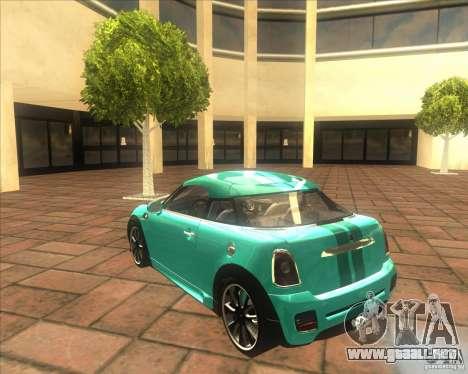 Mini Coupe 2011 Concept para la visión correcta GTA San Andreas