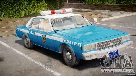 Chevrolet Impala Police 1983 v2.0 para GTA 4 left