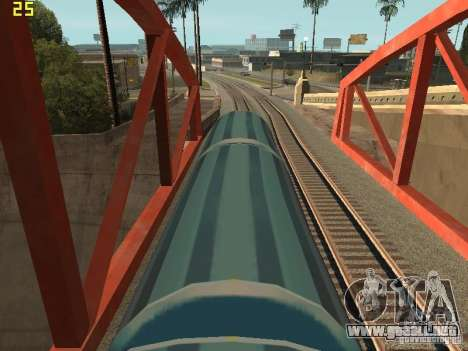 Vagón de carga de los surfistas del metro para GTA San Andreas vista posterior izquierda