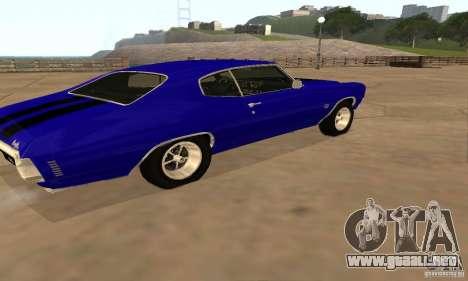 Chevrolet Chevelle SS 1970 para GTA San Andreas vista hacia atrás