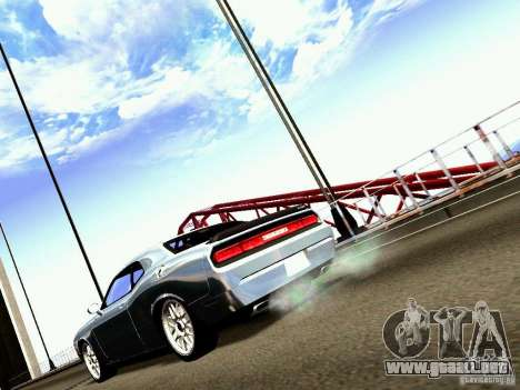 Dodge Challenger SRT8 2009 para GTA San Andreas vista posterior izquierda