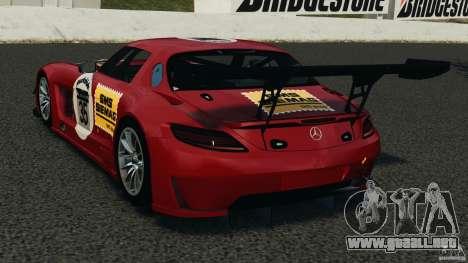 Mercedes-Benz SLS AMG GT3 2011 v1.0 para GTA 4 Vista posterior izquierda