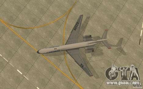 Aeroflot Il-62 m para GTA San Andreas vista hacia atrás