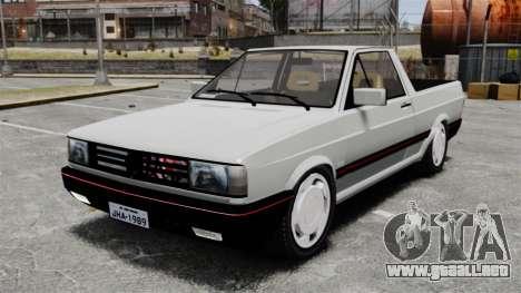 Volkswagen Saveiro 1990 Turbo para GTA 4