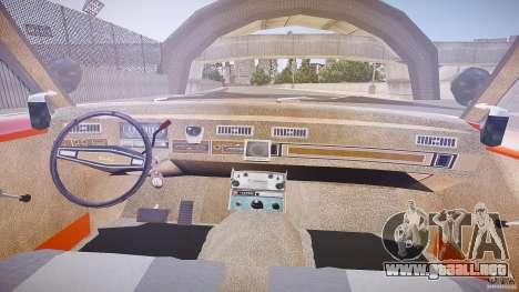 AMC Matador Hazzard County Sheriff [ELS] para GTA 4 vista hacia atrás