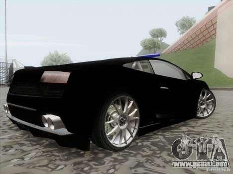 Lamborghini Gallardo LP-560 Police para GTA San Andreas left
