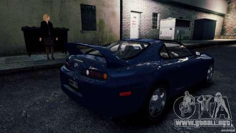 Toyota Supra RZ 1998 para GTA 4 Vista posterior izquierda