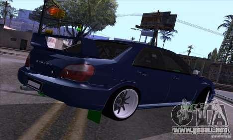 Subaru Impresa WRX light tuning para la visión correcta GTA San Andreas