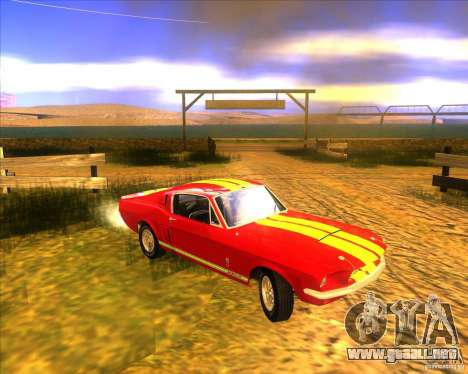 Shelby GT500 1967 para visión interna GTA San Andreas