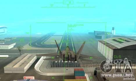 YF-22 Grey para vista lateral GTA San Andreas