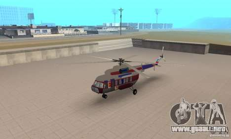 MI-17 civiles (Inglés) para GTA San Andreas