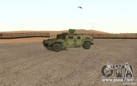 Hummer Spec Ops The Line para GTA San Andreas vista hacia atrás