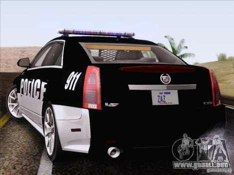Cadillac CTS-V Police Car para GTA San Andreas left