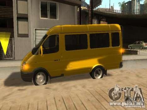 Taxi gacela 2705 para visión interna GTA San Andreas