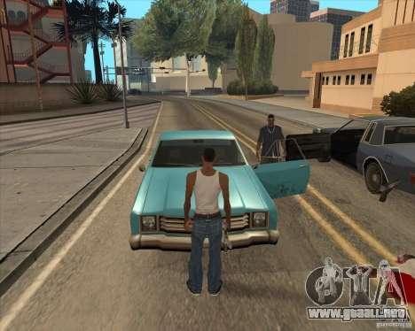 Controladores salgan del coche para GTA San Andreas segunda pantalla