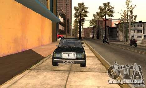 LADA 2107 Turbo para la visión correcta GTA San Andreas