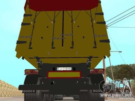 Remolques volquetes para visión interna GTA San Andreas