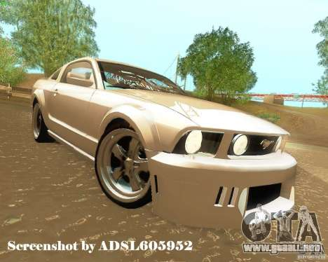 Ford Mustang GT 2005 Tunable para la vista superior GTA San Andreas