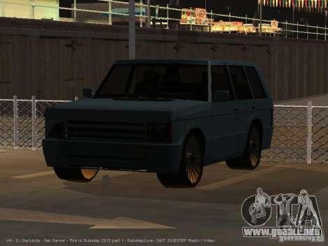 New Huntley para GTA San Andreas vista posterior izquierda